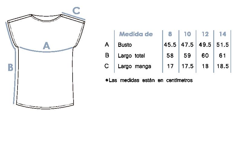 Blusa con tejidos en el cuello 1377-4