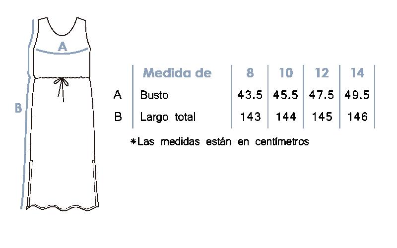 Vestido largo casual con estilo 8565
