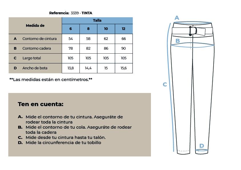 3339 Tinta pantalón