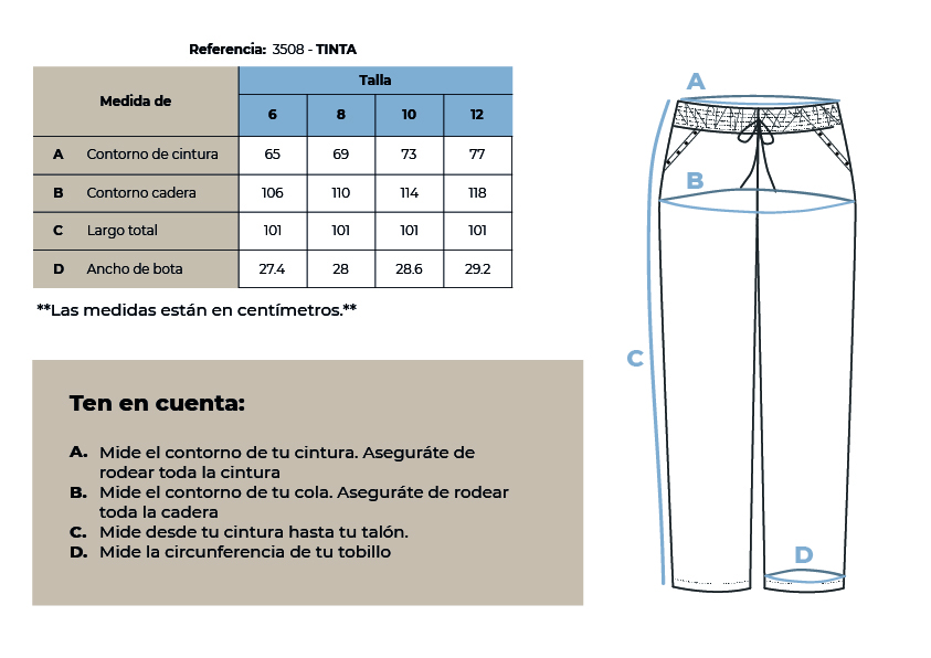 3508 tinta pantalon